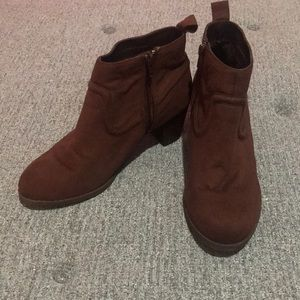 Mossimo Suede Brown Booties